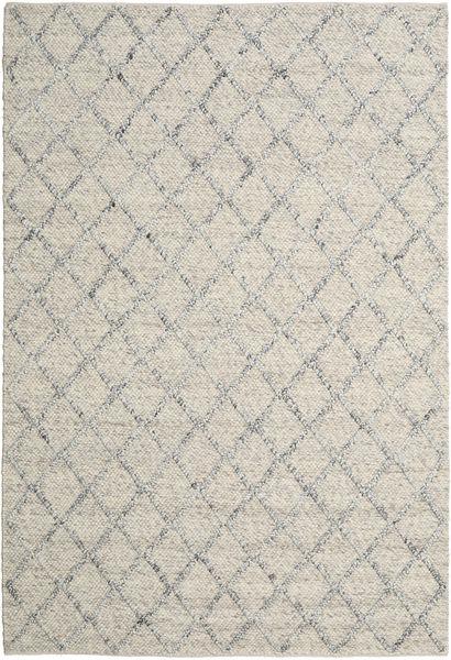 Rut - Hopea/Harmaa Melange Matto 200X300 Moderni Käsinkudottu Vaaleanharmaa/Tummanbeige (Villa, Intia)