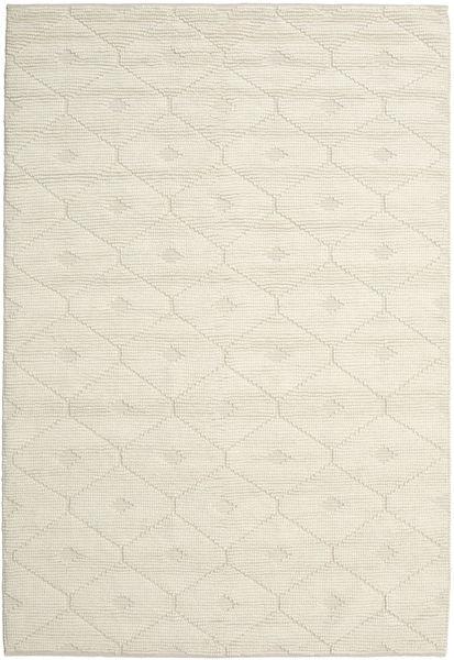 Romby - Off-Valkoinen Matto 200X300 Moderni Käsinkudottu Beige/Tummanbeige (Villa, Intia)