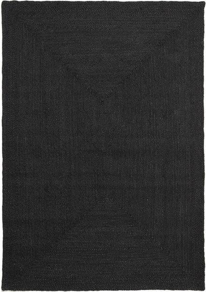 Ulkomatto Frida Color - Musta Matto 160X230 Moderni Käsinkudottu Musta (Juuttimatto Intia)