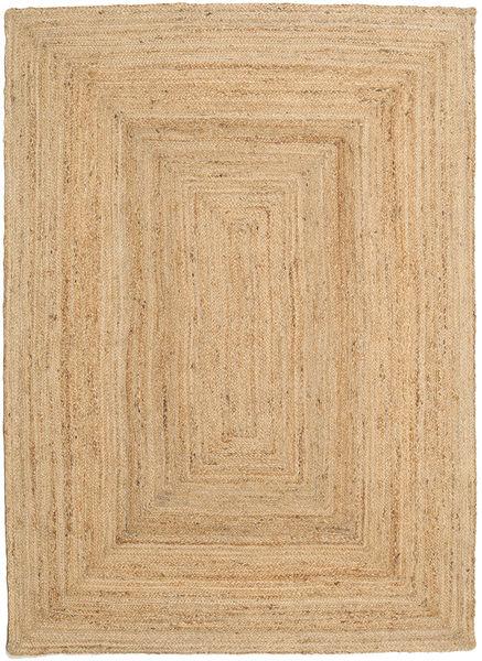 Ulkomatto Frida - Natural Matto 160X230 Moderni Käsinkudottu Tummanbeige/Beige (Juuttimatto Intia)