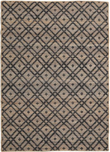 Ulkomatto Trisha Jute Matto 160X230 Moderni Käsinkudottu Vaaleanharmaa/Tummanharmaa (Juuttimatto Intia)
