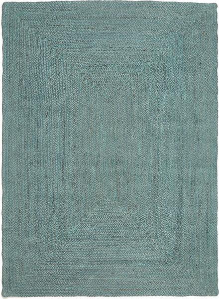 Ulkomatto Frida Color - Turquoise Matto 140X200 Moderni Käsinkudottu Siniturkoosi/Siniturkoosi (Juuttimatto Intia)