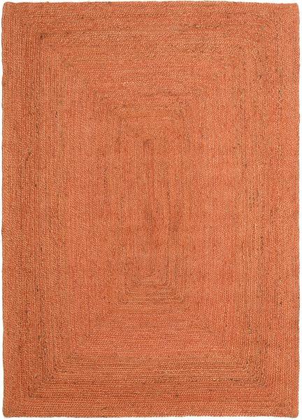 Ulkomatto Frida Color - Oranssi Matto 0X0 Moderni Käsinkudottu Oranssi/Punainen (Juuttimatto Intia)