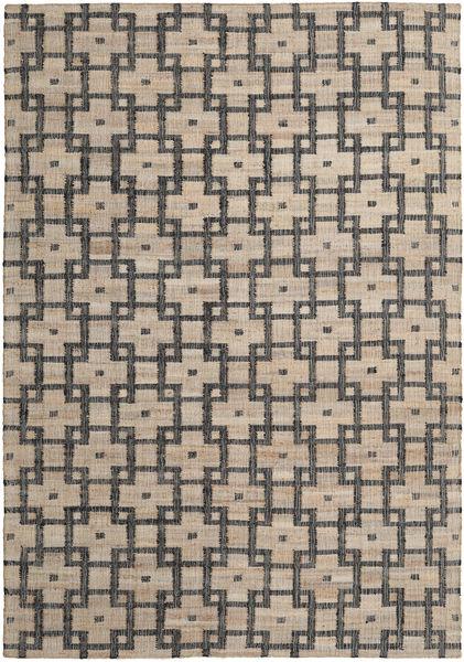 Ulkomatto Tudor Matto 200X300 Moderni Käsinkudottu Vaaleanharmaa/Tummanharmaa (Juuttimatto Intia)