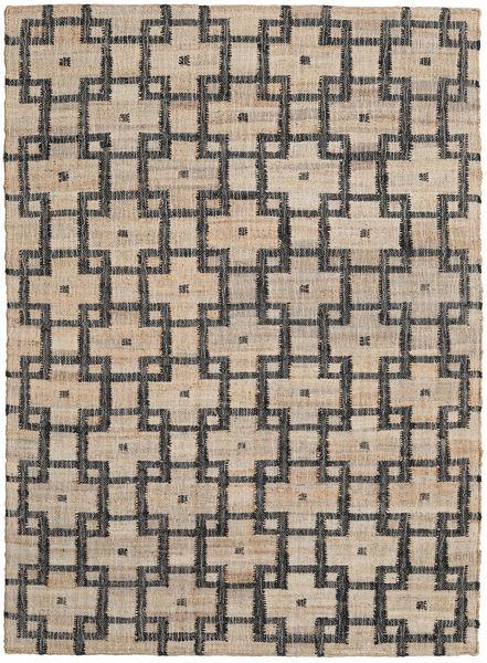Ulkomatto Tudor Matto 140X200 Moderni Käsinkudottu Vaaleanharmaa/Tummanharmaa (Juuttimatto Intia)