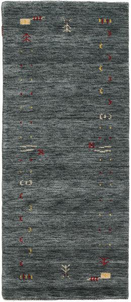 Gabbeh Loom Frame - Tummanharmaa/Vihreä Matto 80X200 Moderni Käytävämatto Tummanharmaa/Tummanvihreä (Villa, Intia)