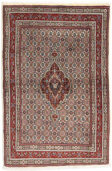 Moud Matto 100X150 Itämainen Käsinsolmittu Tummanpunainen/Tummanruskea (Villa/Silkki, Persia/Iran)