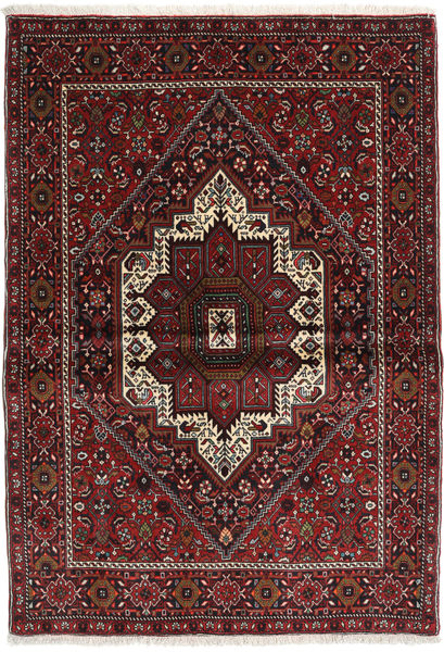 Gholtogh Matto 103X146 Itämainen Käsinsolmittu Tummanpunainen/Tummanruskea (Villa, Persia/Iran)