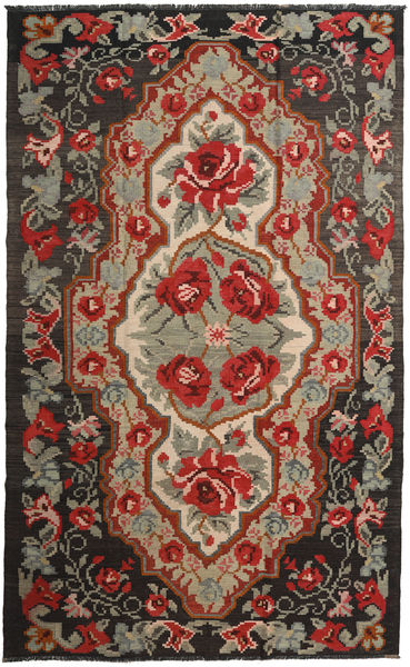 Ruusukelim Moldavia Matto 191X317 Itämainen Käsinkudottu Tummanpunainen/Musta (Villa, Moldova)