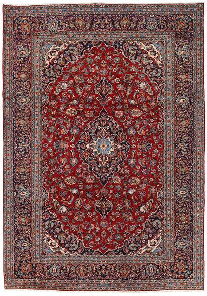 Keshan Matto 242X351 Itämainen Käsinsolmittu Tummanruskea/Tummanpunainen (Villa, Persia/Iran)