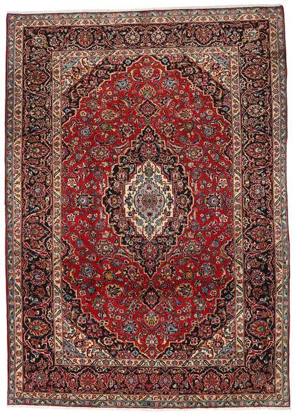 Mashad Matto 253X356 Itämainen Käsinsolmittu Tummanpunainen/Tummanruskea Isot (Villa, Persia/Iran)