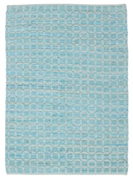 Elna - Bright_Blue Matto 140X200 Moderni Käsinkudottu Vaaleansininen/Siniturkoosi (Puuvilla, Intia)