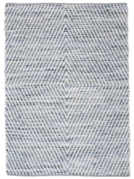 Hilda - Denim/Valkoinen Matto 170X240 Moderni Käsinkudottu Beige/Vaaleansininen (Puuvilla, Intia)