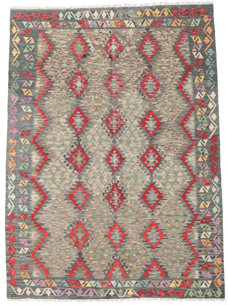 Kelim Afghan Old Style Matto 179X248 Itämainen Käsinkudottu Tummanharmaa/Vaaleanharmaa (Villa, Afganistan)