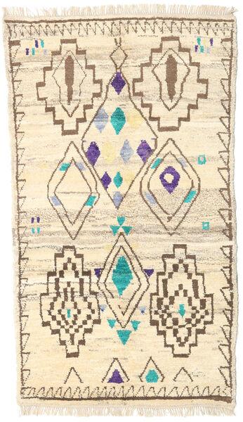 Moroccan Berber - Afghanistan Matto 112X193 Moderni Käsinsolmittu Beige/Tummanbeige (Villa, Afganistan)
