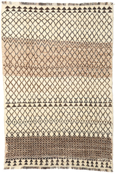 Barchi/Moroccan Berber - Afganistan Matto 194X286 Moderni Käsinsolmittu Beige/Tummanruskea (Villa, Afganistan)