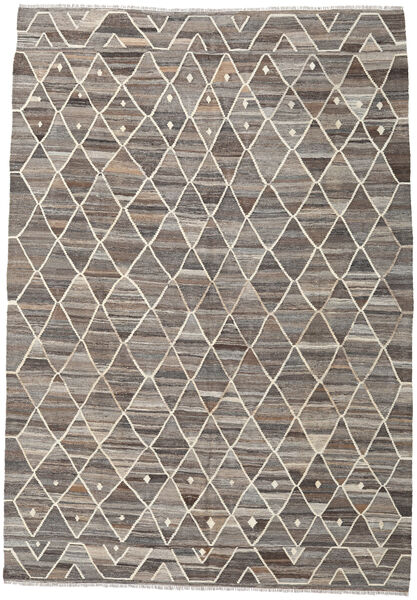 Kelim Ariana Matto 211X301 Moderni Käsinkudottu Vaaleanharmaa/Tummanharmaa (Villa, Afganistan)
