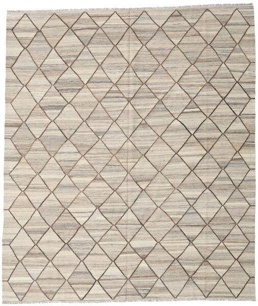 Kelim Ariana Matto 254X295 Moderni Käsinkudottu Vaaleanharmaa Isot (Villa, Afganistan)