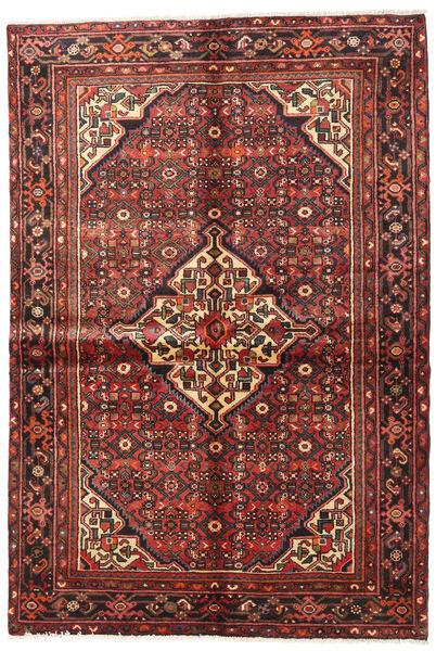 Hosseinabad Matto 154X220 Itämainen Käsinsolmittu Tummanpunainen/Tummanruskea (Villa, Persia/Iran)