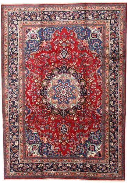 Mashad Matto 240X337 Itämainen Käsinsolmittu Tummanpunainen/Tummanharmaa (Villa, Persia/Iran)