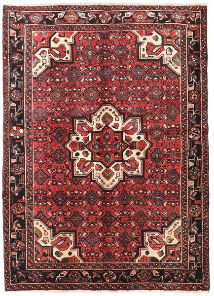 Hosseinabad Matto 155X210 Itämainen Käsinsolmittu Tummanruskea/Tummanpunainen (Villa, Persia/Iran)