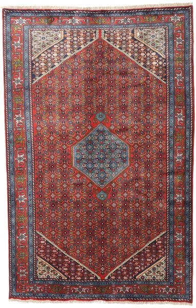 Zanjan Matto 195X302 Itämainen Käsinsolmittu Tummanpunainen/Musta (Villa, Persia/Iran)