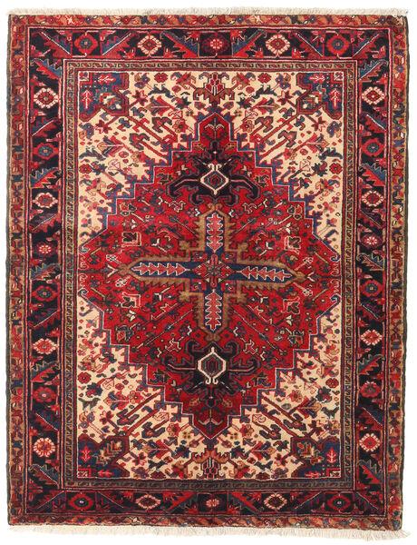 Heriz Matto 135X172 Itämainen Käsinsolmittu Tummanruskea/Tummanpunainen (Villa, Persia/Iran)