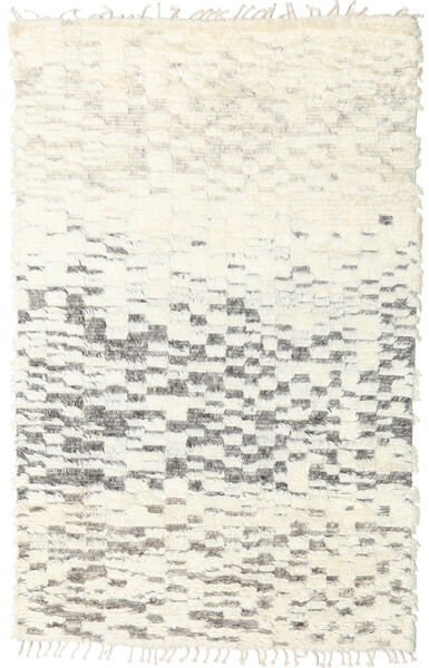 Barchi/Moroccan Berber - Indo Matto 152X241 Moderni Käsinsolmittu Beige/Vaaleanharmaa (Villa, Intia)