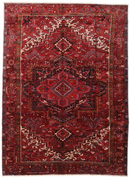 Heriz Matto 295X403 Itämainen Käsinsolmittu Tummanpunainen/Tummanruskea Isot (Villa, Persia/Iran)