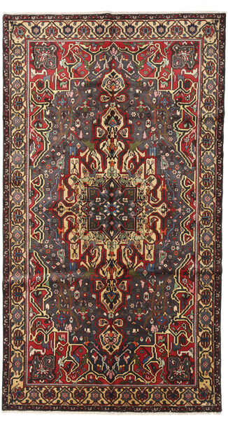 Bakhtiar Matto 165X295 Itämainen Käsinsolmittu Käytävämatto Tummanruskea/Musta (Villa, Persia/Iran)