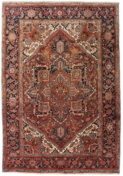 Heriz Matto 195X285 Itämainen Käsinsolmittu Tummanruskea/Tummanpunainen (Villa, Persia/Iran)