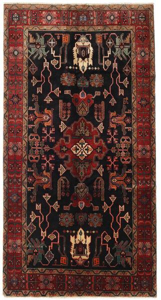Heriz Matto 155X300 Itämainen Käsinsolmittu Käytävämatto Tummanruskea/Tummanpunainen (Villa, Persia/Iran)