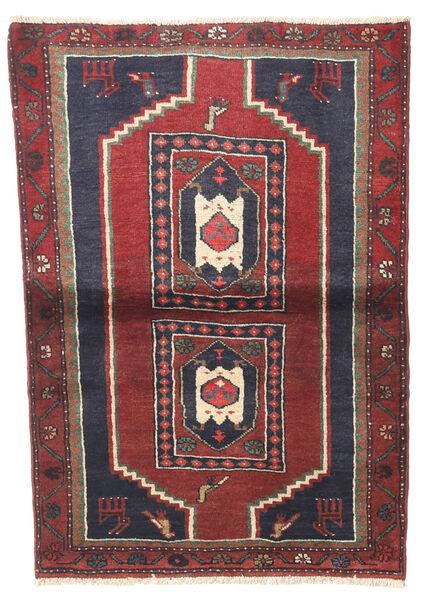 Klardasht Matto 82X120 Itämainen Käsinsolmittu Tummanpunainen/Tummanharmaa (Villa, Persia/Iran)