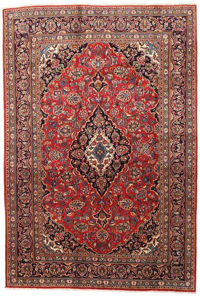 Mashad Matto 200X295 Itämainen Käsinsolmittu Tummanpunainen/Ruoste (Villa, Persia/Iran)