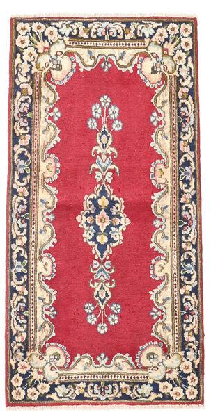 Kerman Matto 60X118 Itämainen Käsinsolmittu Vaaleanpunainen/Tummanharmaa (Villa, Persia/Iran)