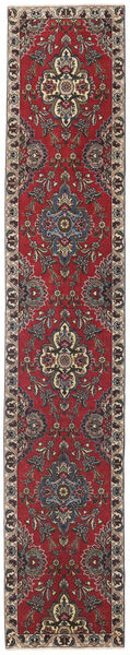 Tabriz Patina Matto 80X430 Itämainen Käsinsolmittu Käytävämatto Tummanpunainen/Tummanruskea (Villa, Persia/Iran)