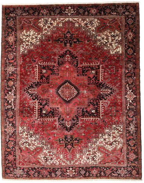 Heriz Matto 330X415 Itämainen Käsinsolmittu Tummanpunainen/Tummanruskea Isot (Villa, Persia/Iran)