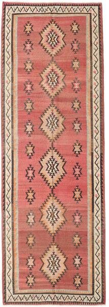 Kelim Fars Matto 155X460 Itämainen Käsinkudottu Käytävämatto Tummanpunainen/Tummanruskea (Villa, Persia/Iran)