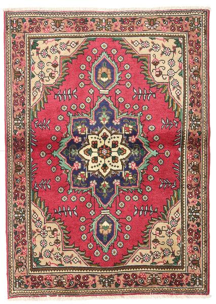 Tabriz Matto 102X145 Itämainen Käsinsolmittu Tummanharmaa/Tummanpunainen/Ruoste (Villa, Persia/Iran)