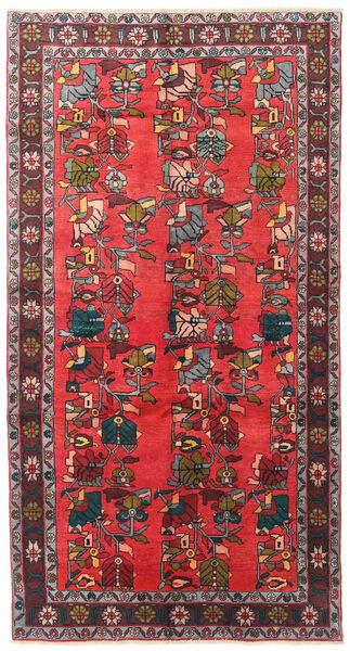 Ardebil Matto 139X256 Itämainen Käsinsolmittu Tummanruskea/Punainen (Villa, Persia/Iran)