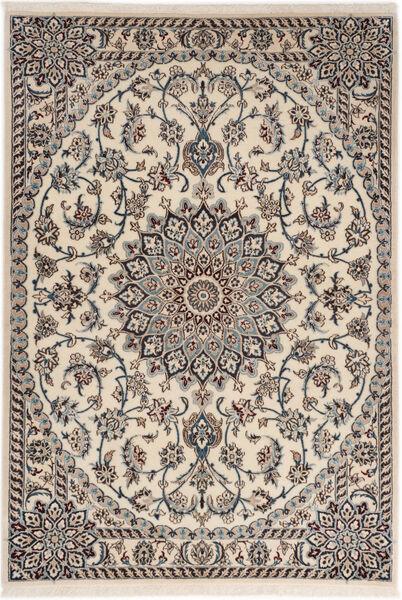 Nain 6La Matto 98X141 Itämainen Käsinsolmittu Vaaleanharmaa/Beige (Villa/Silkki, Persia/Iran)