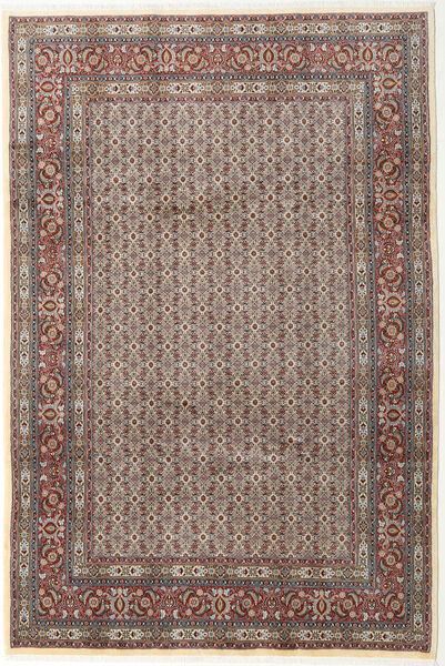 Moud Matto 199X293 Itämainen Käsinsolmittu Vaaleanharmaa/Tummanharmaa (Villa/Silkki, Persia/Iran)