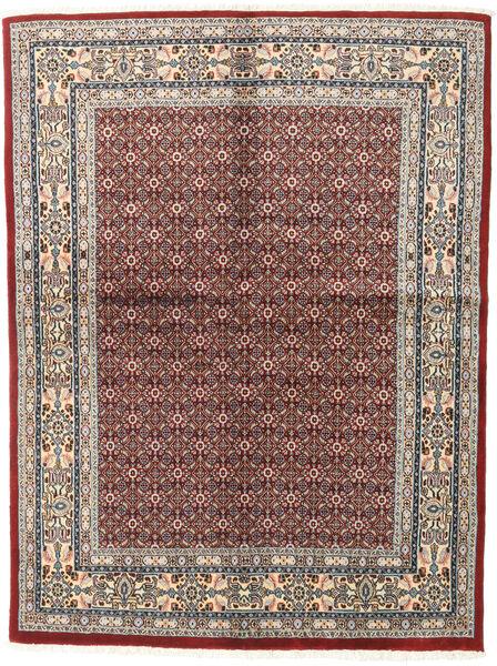 Moud Matto 147X195 Itämainen Käsinsolmittu Vaaleanharmaa/Tummanpunainen (Villa/Silkki, Persia/Iran)