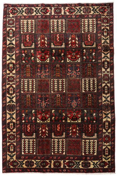Bakhtiar Matto 205X311 Itämainen Käsinsolmittu Tummanruskea/Tummanpunainen (Villa, Persia/Iran)