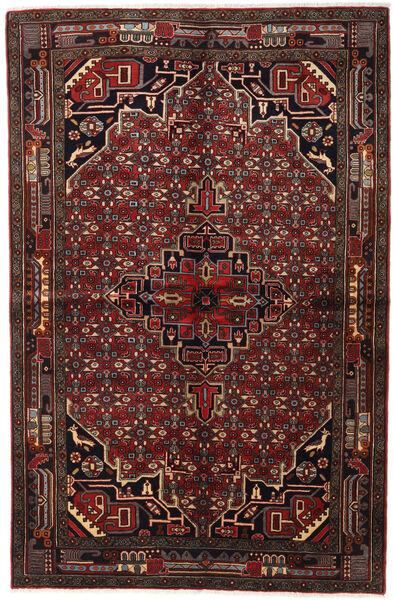 Koliai Matto 155X235 Itämainen Käsinsolmittu Tummanruskea/Tummanpunainen (Villa, Persia/Iran)