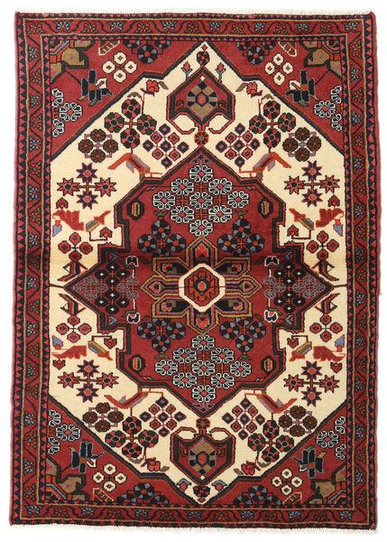 Hamadan Matto 104X150 Itämainen Käsinsolmittu Tummanpunainen/Musta (Villa, Persia/Iran)