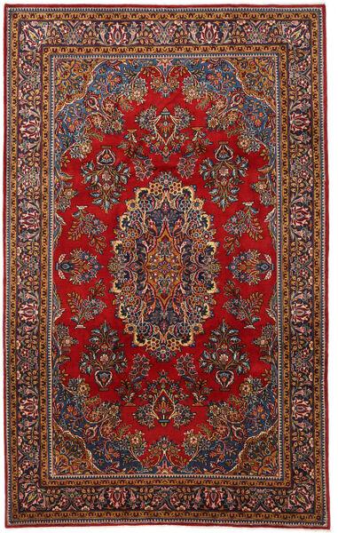 Mahal Matto 220X350 Itämainen Käsinsolmittu Tummanpunainen/Tummanharmaa (Villa, Persia/Iran)