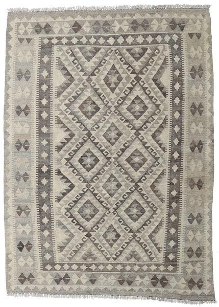 Kelim Afghan Old Style Matto 147X202 Itämainen Käsinkudottu Vaaleanharmaa/Tummanharmaa (Villa, Afganistan)