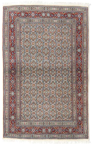 Moud Matto 100X155 Itämainen Käsinsolmittu Vaaleanharmaa/Tummanharmaa (Villa/Silkki, Persia/Iran)
