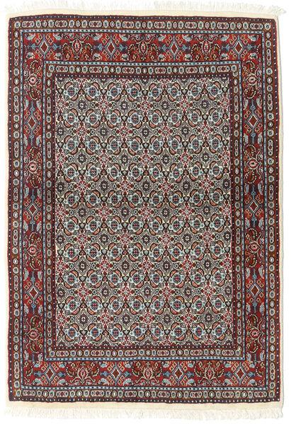 Moud Matto 85X140 Itämainen Käsinsolmittu Tummanruskea/Beige (Villa/Silkki, Persia/Iran)